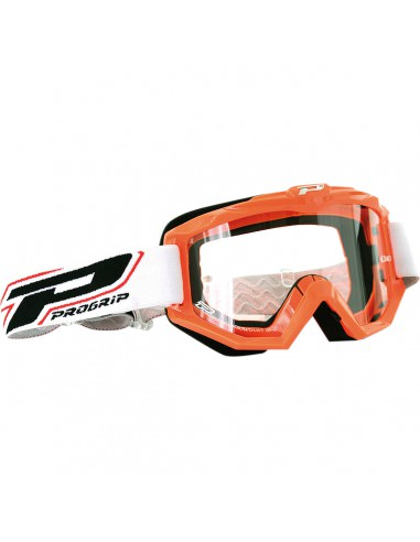 PRO GRIP BRILLE OFFROAD RACE LINE ORANGE 3201 GLAS KLAR