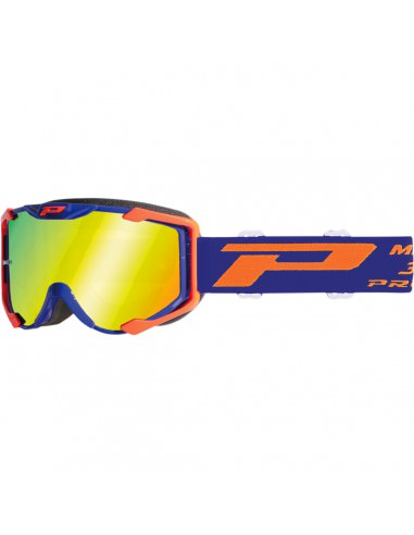 PRO GRIP BRILLE OFFROAD MENANCE MEHRSCHICHTIG 3404 FLUO ORANGE/BLAU