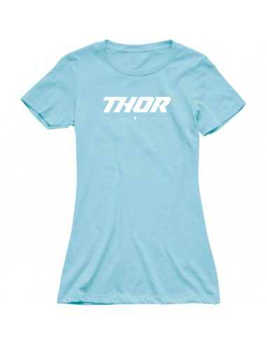 THOR MX T-SHIRT DAMEN LOUD BLAU
