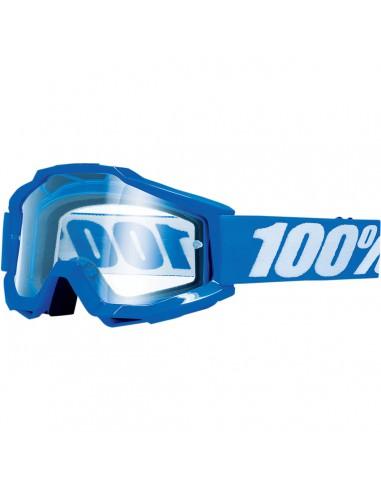 100% ACCURI REFLEX BLAU OTG/Brillenträger BRILLE SILBER VERSPIEGELT