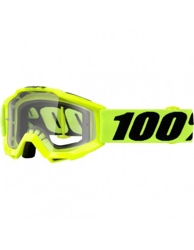 100% ACCURI JR FLUO YELLOW OFFROAD BRILLE KLAR