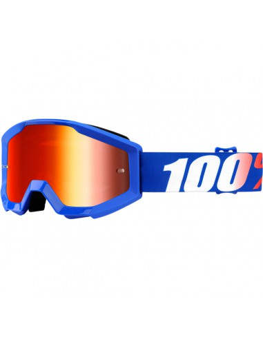 100% STRATA JR NATION OFFROAD BRILLE ROT VERSPIEGELT