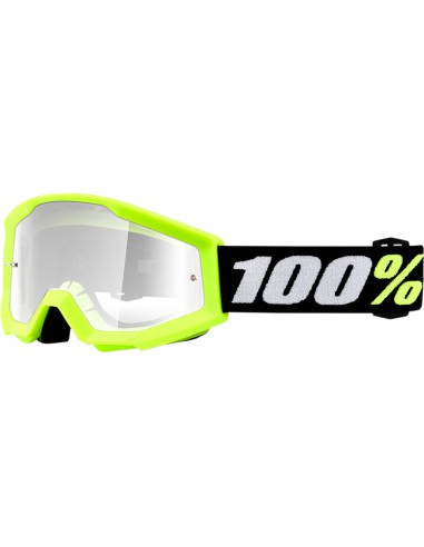 100% STRATA MINI GROM YELLOW OFFROAD BRILLE KLAR