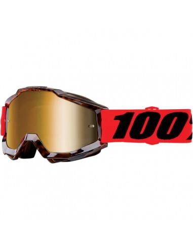 100% ACCURI VENDOME OFFROAD BRILLE GOLD VERSPIEGELT