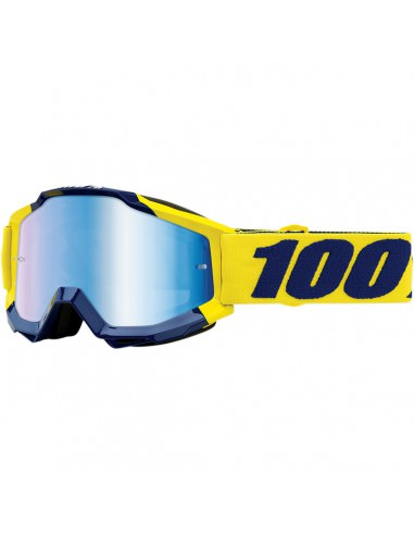 100% BRILLE AC SUPPLY blau verspiegelt
