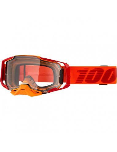 100% BRILLE ARMEGA Orange/Klar