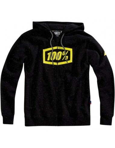 100% SYNDICATE FULL-ZIP KAPUZENPULLI SCHWARZ/LIME