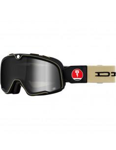 100% Brille Barstaw DEUS EX beige/schwarz verspiegelt silber