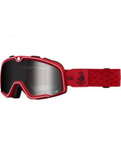100% Brille Barstaw CABALLERO rot verspiegelt silber