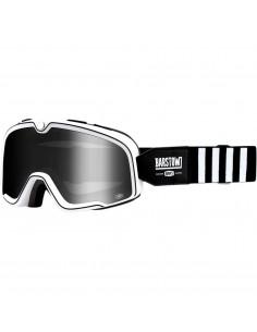 100% Brille Barstaw CODA schwarz/weiß verspiegelt silber