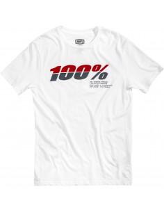 100% T-SHIRT BRISTOL WEIß