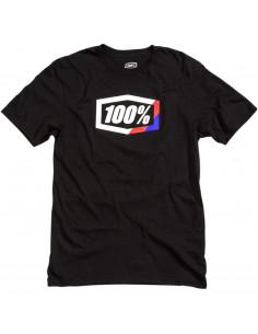 100% T-SHIRT STRIPES SCHWARZ