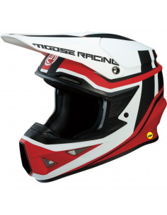MOOSE RACING HELM 2019 FI MIPS ROT/WEIß