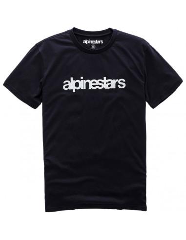 ALPINESTARS T-SHIRT HERITAGE WORD SCHWARZ