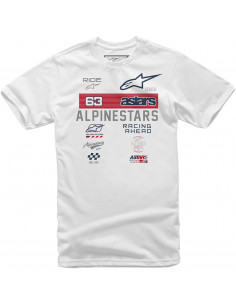 ALPINESTARS T-SHIRT SPONSORED WEIß