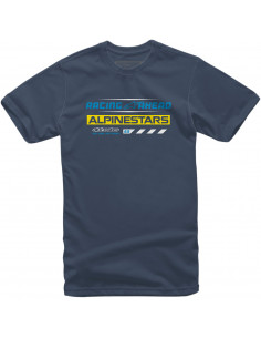 ALPINESTARS T-SHIRT WORLD TOUR BLAU