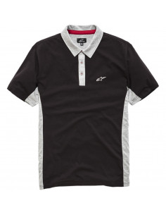 ALPINESTARS POLO SHIRT CHAMPION SCHWARZ/GRAU