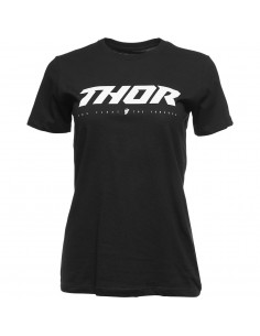 THOR MX T-SHIRT DAMEN LOUD2 SCHWARZ