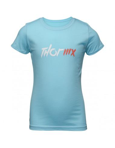 THOR MX T-SHIRT JUGEND GIRLS MX BLAU