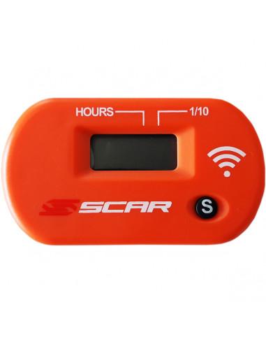 SCAR Betriebsstundenzähler kabellos orange
