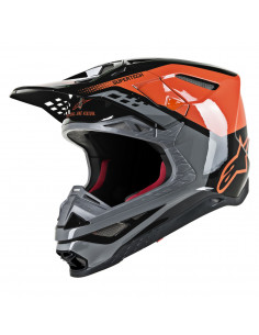 ALPINESTARS HELM SM8 TRIPLE ORANGE/SCHWARZ