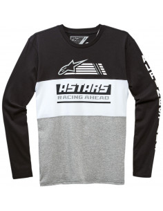 ALPINESTARS T-SHIRT LANGARM RIVALRY SCHWARZ