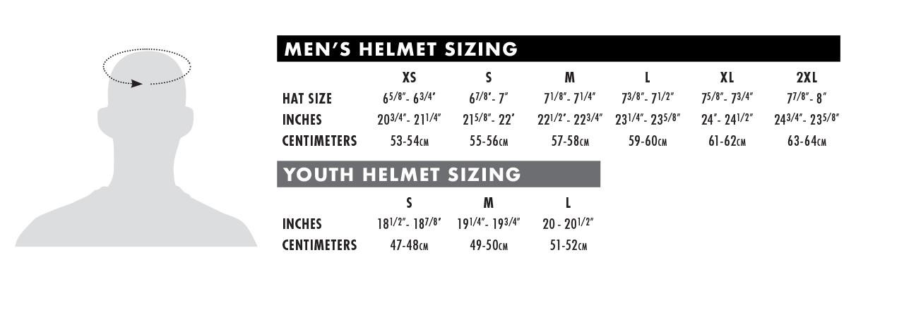 Größentabelle Helme